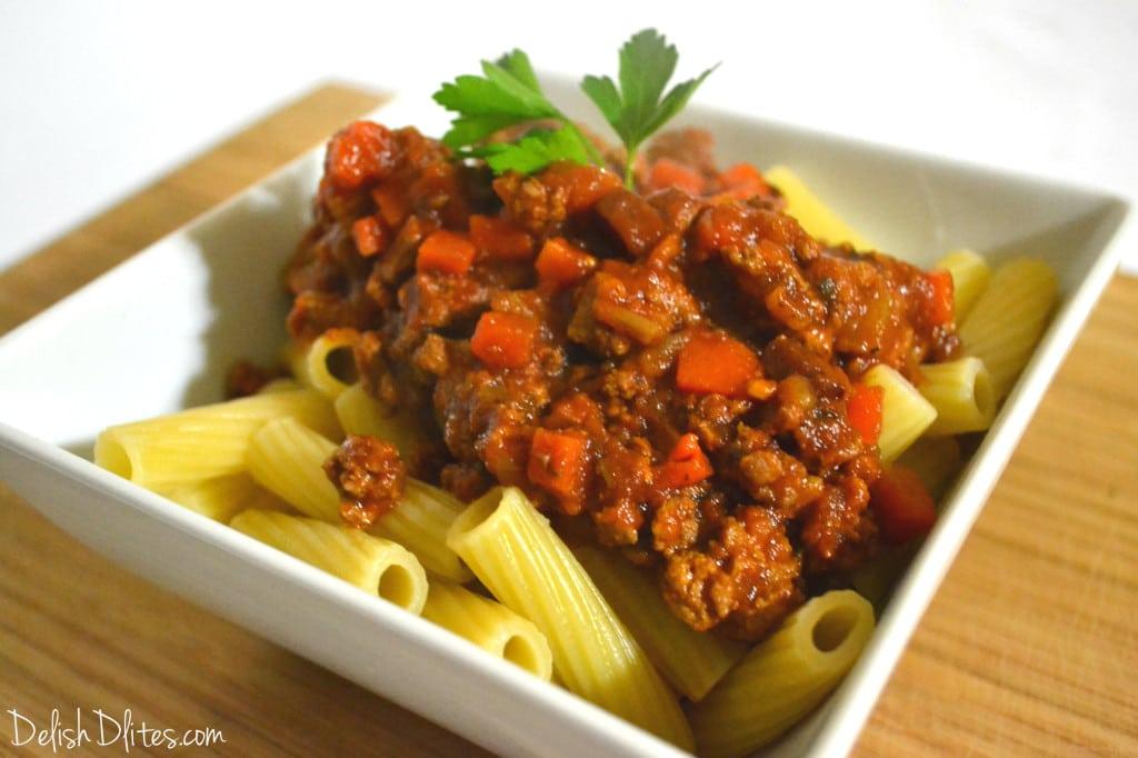 Slow Cooker Turkey Bolognese   Delish D'Lites