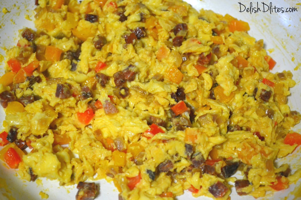 Tex-Mex Chorizo and Egg Breakfast Tacos | Delish D'Lites