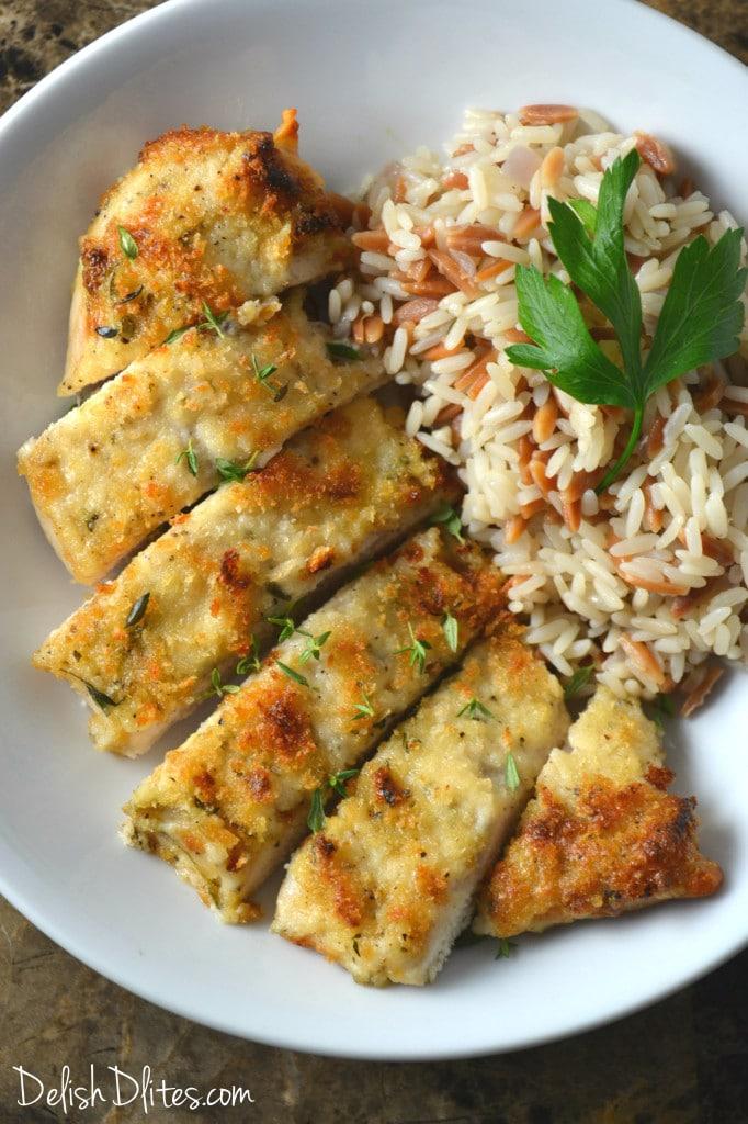 Parmesan Crusted Chicken | Delish D'Lites