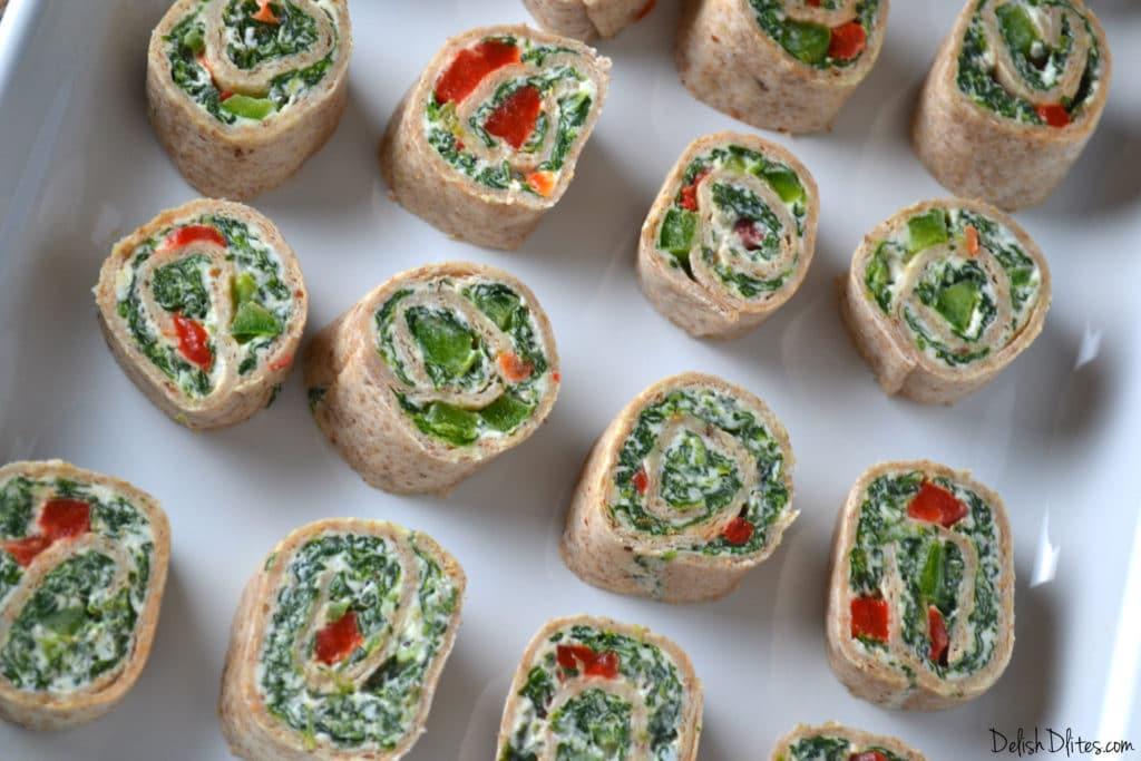 Spinach Dip Roll Ups | Delish D'Lites