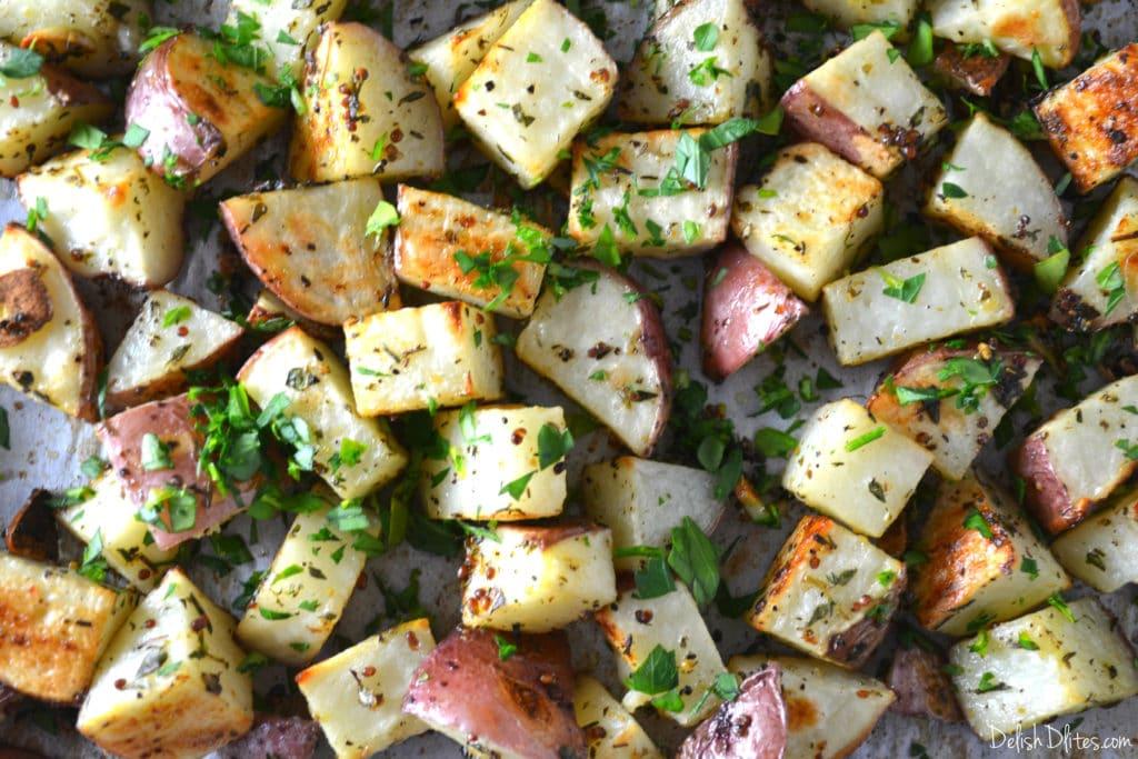 Mustard Roasted Potatoes | Delish D'Lites