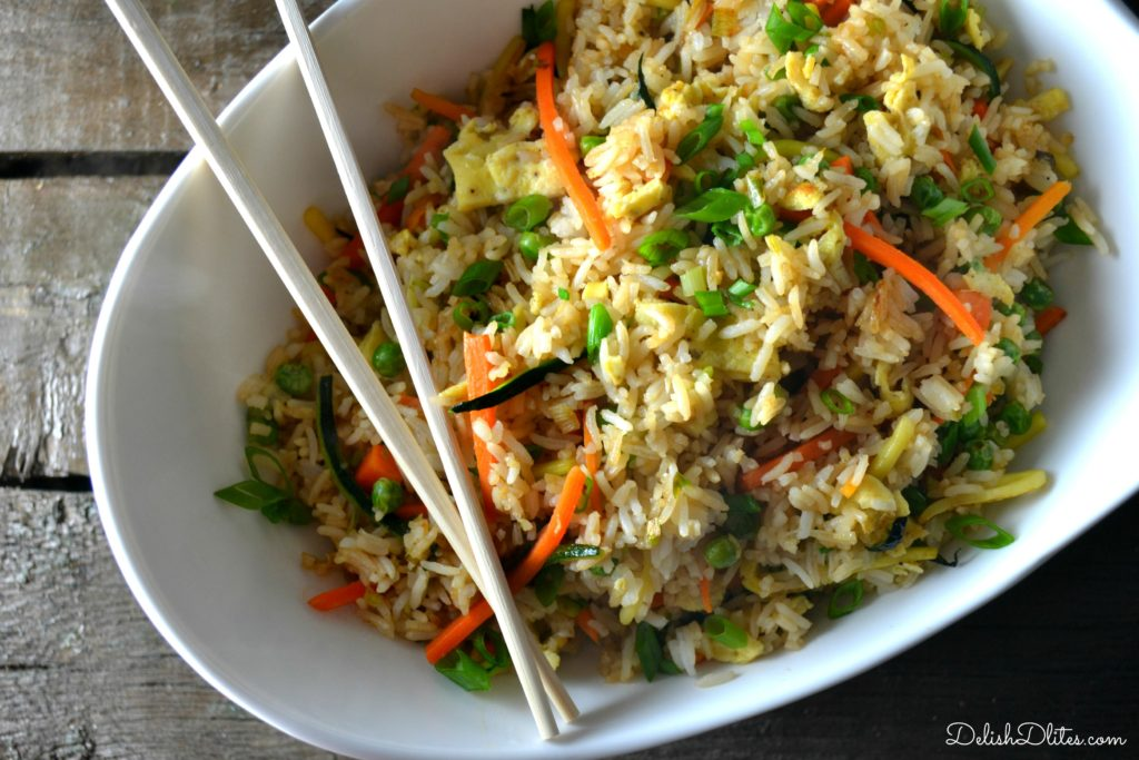 Veggie Fried Rice | Delish D'Lites