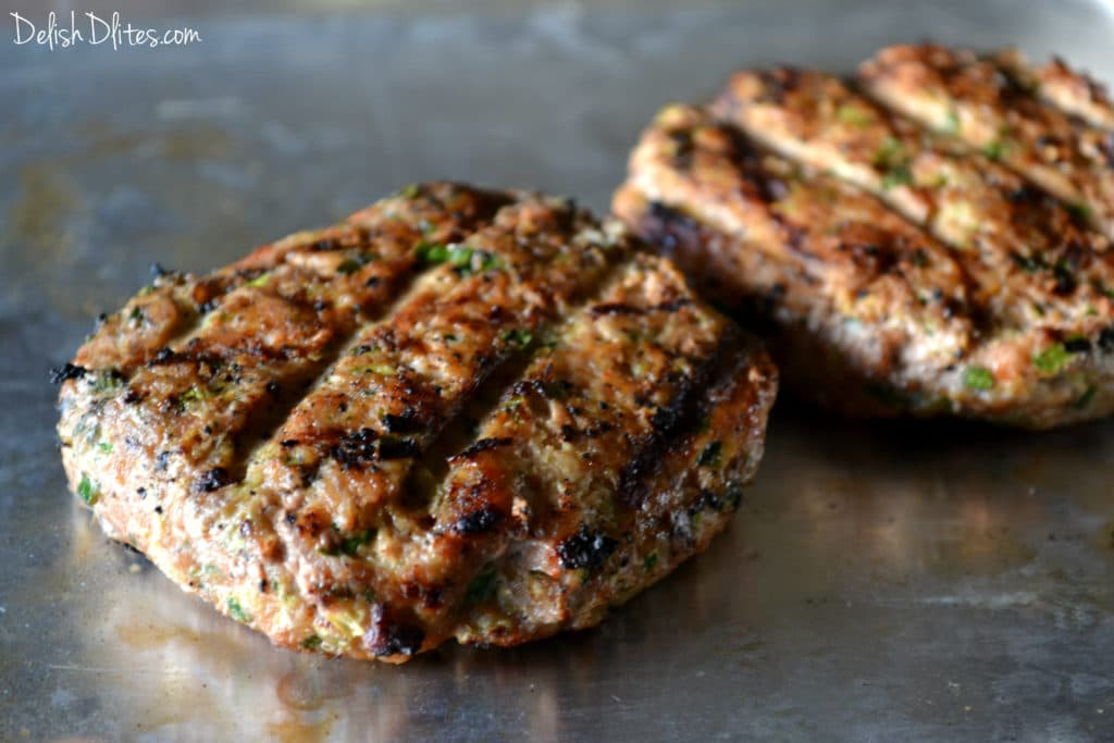 Spicy Turkey Zucchini Burgers | Delish D'Lites