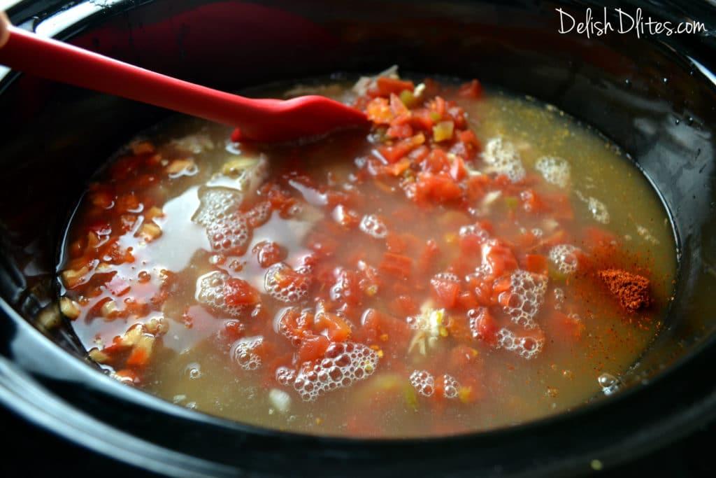 Slow Cooker Chicken Tortilla Soup   Delish D'Lites