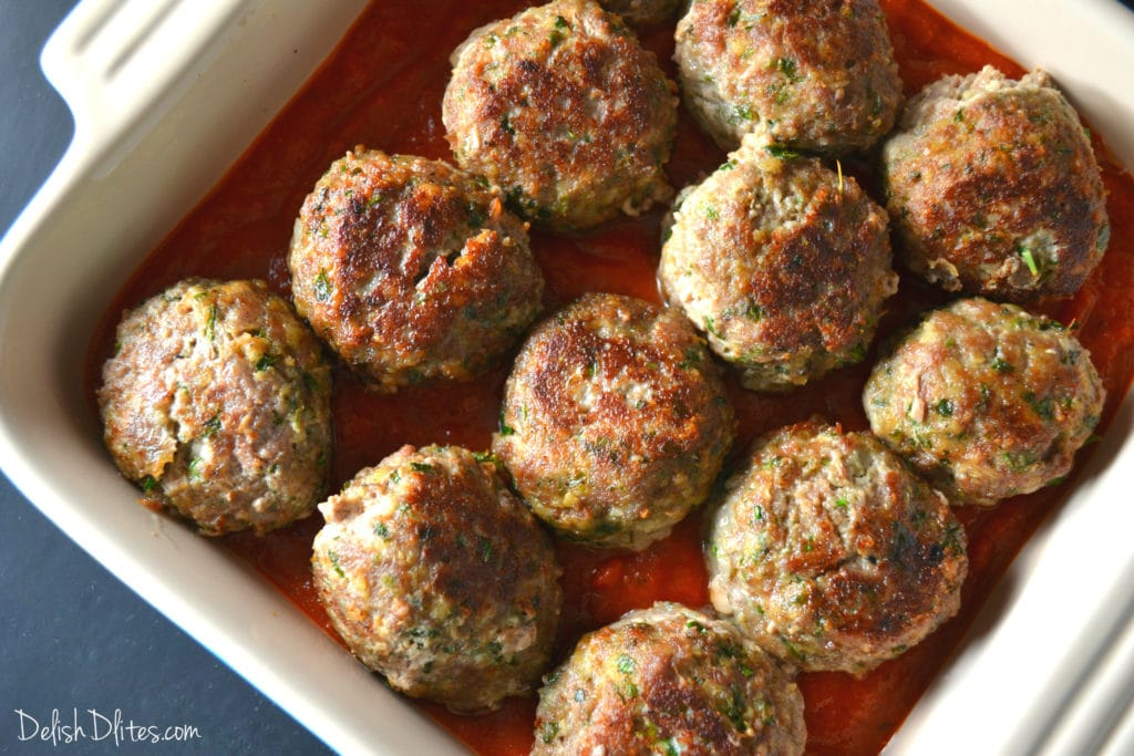 Baked Meatball Parmesan   Delish D'Lites