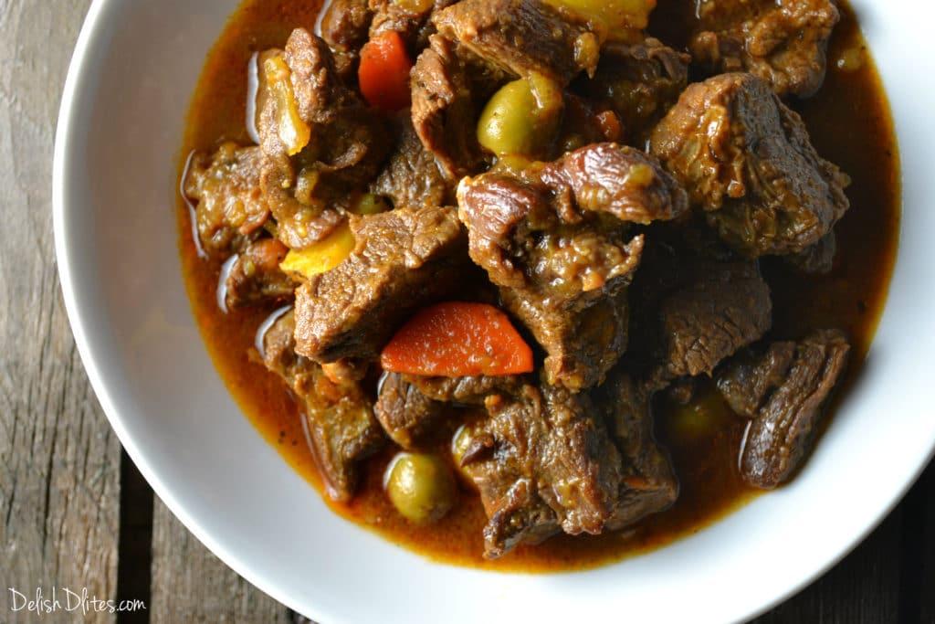 Carne Guisada (Puerto Rican Beef Stew) | Delish D'Lites