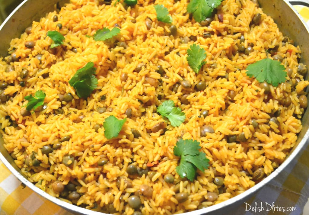 Arroz Con Gandules Puerto Rican Rice With Pigeon Peas