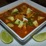 Chicken Tortilla Soup with Plantain Chips