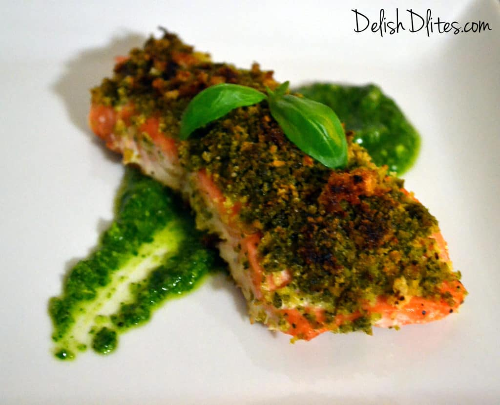 Pesto Crusted Salmon Delish D 39 Lites