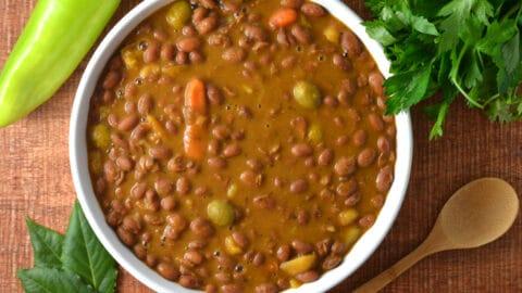 Habichuelas Guisadas Puerto Rican Stewed Beans Delish D Lites