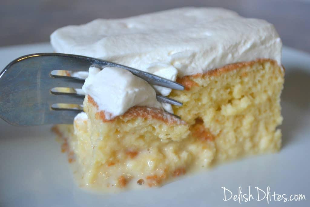 Torta De Tres Leches (3 Milks Cake) | Delish D'Lites