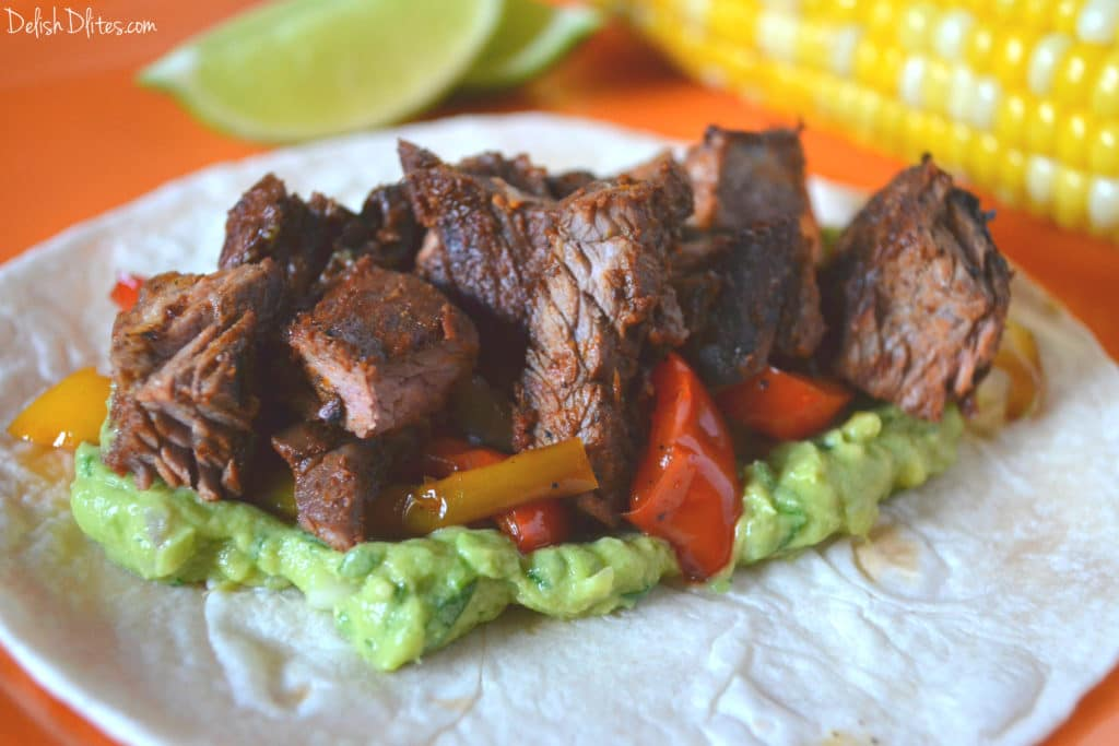 Ancho Chile Rubbed Skirt Steak | Delish D'Lites