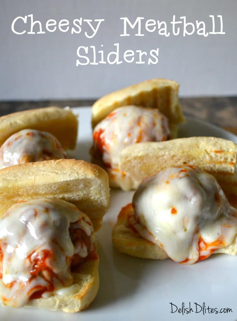 Cheesy Meatball Sliders   Delish D'Lites