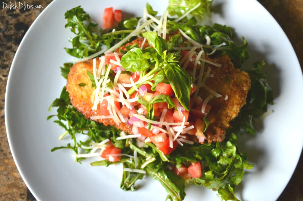 chicken milanese with arugula and tomatoes cotoletta chicken milanese ...