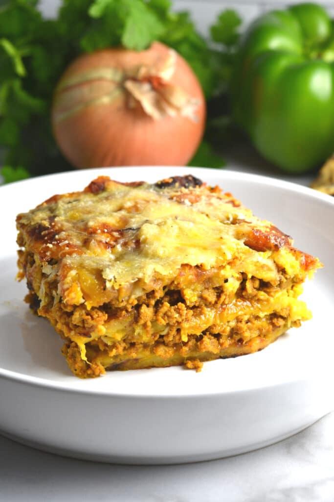 Pastelón (Sweet Plantain Lasagna)