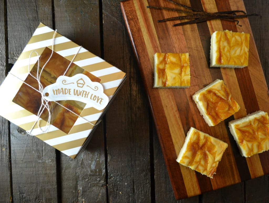 PASSIONFRUIT SWIRL CHEESECAKE BARS | Delish D'Lites