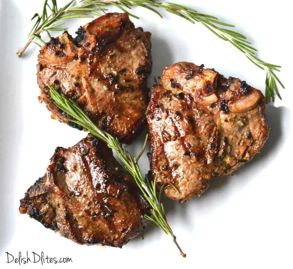 lamb chops on grill recipe Garlic and Rosemary Grilled Lamb Chops