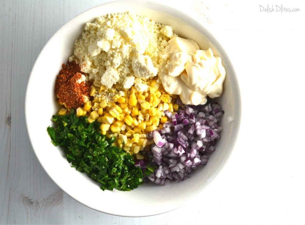 Mexican Street Corn Salad } Delish D'Lites