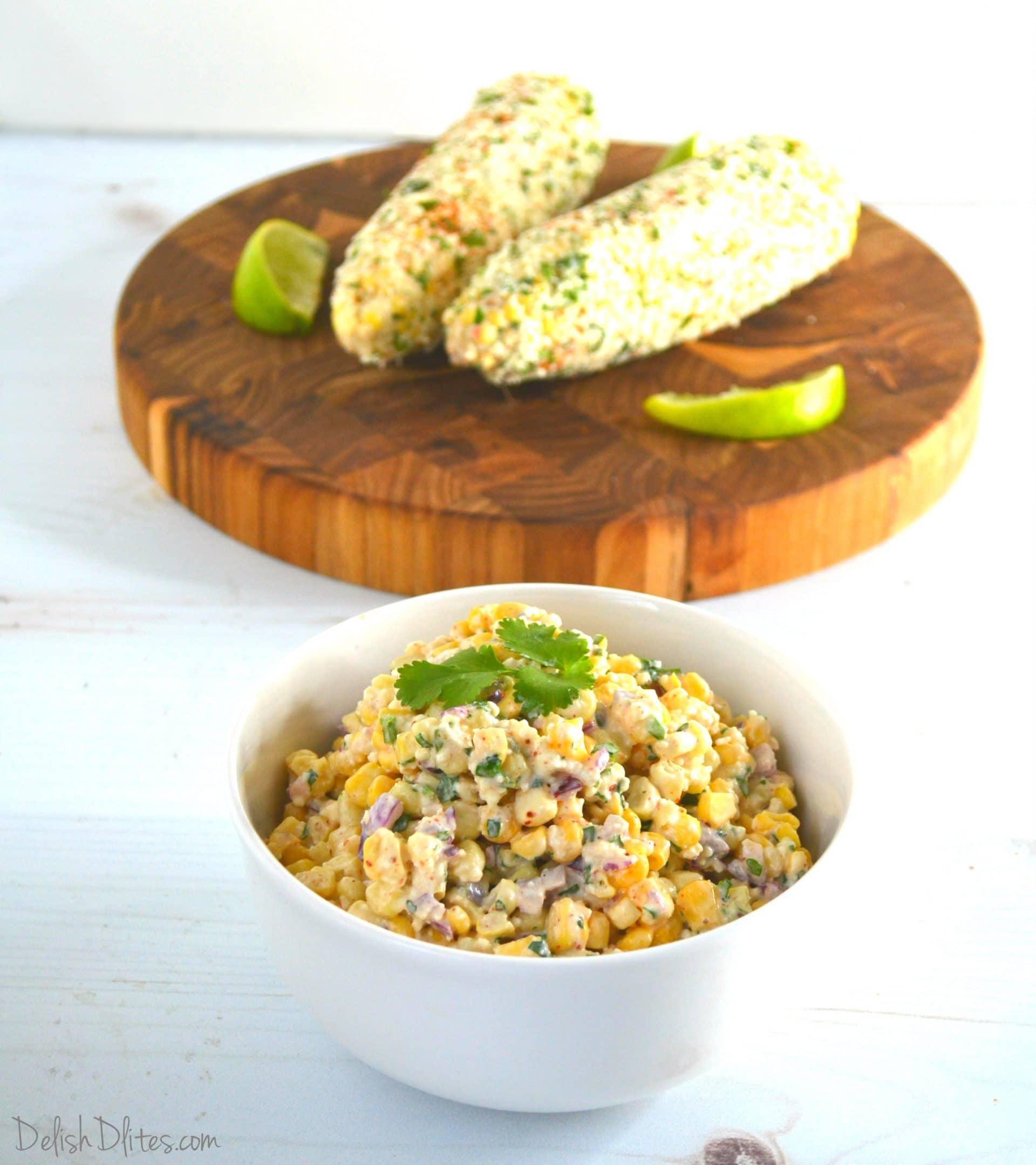 Mexican Street Corn Salad Ensalada De Elotes   Delish D'Lites