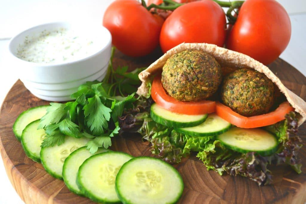 How To Make Vegan Falafel Style Fritters Using a Veggie Burger | Delish D'Lites