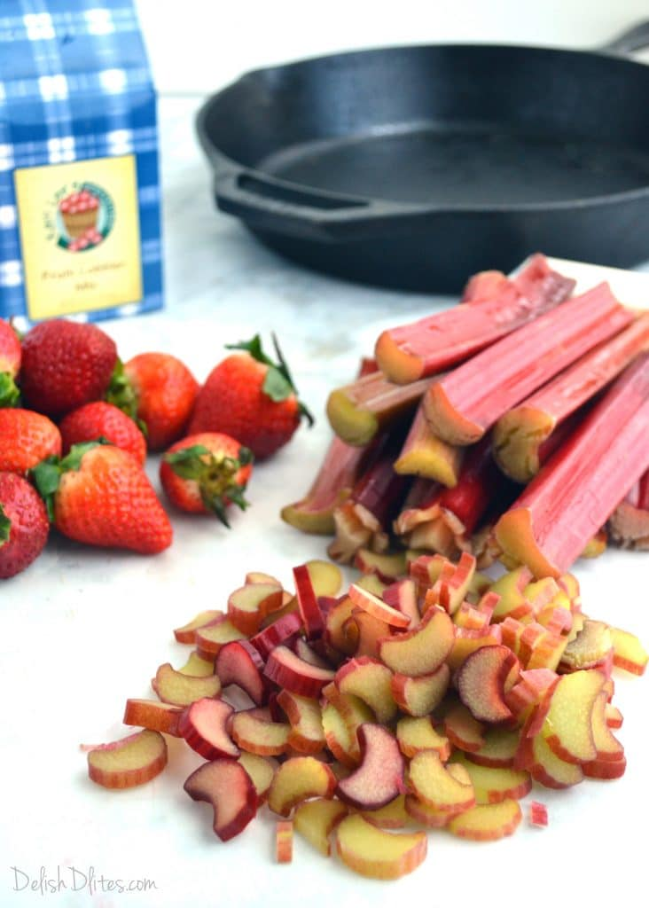 Strawberry Rhubarb Cobbler | Delish D'Lites