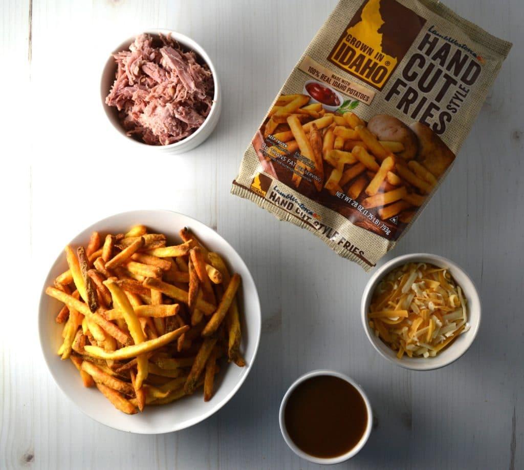 Puerto Rican Pernil Loaded Disco Fries   Delish D'Lites