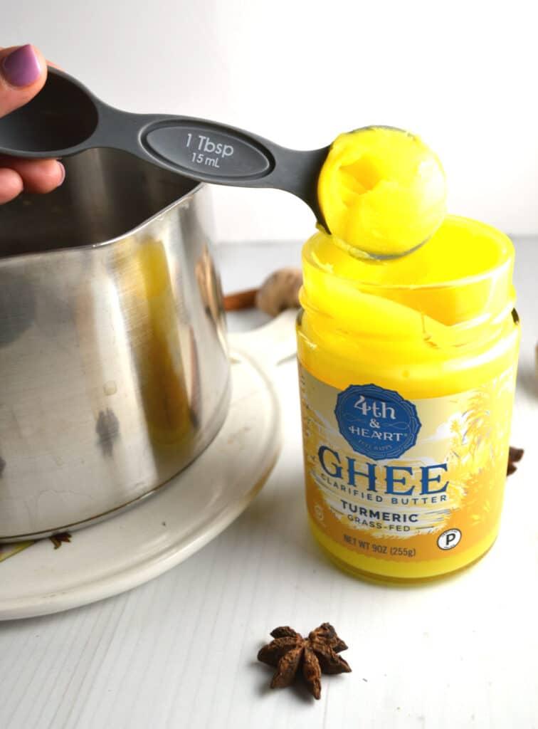 Turmeric Ginger Tea Latte | Delish D'Lites