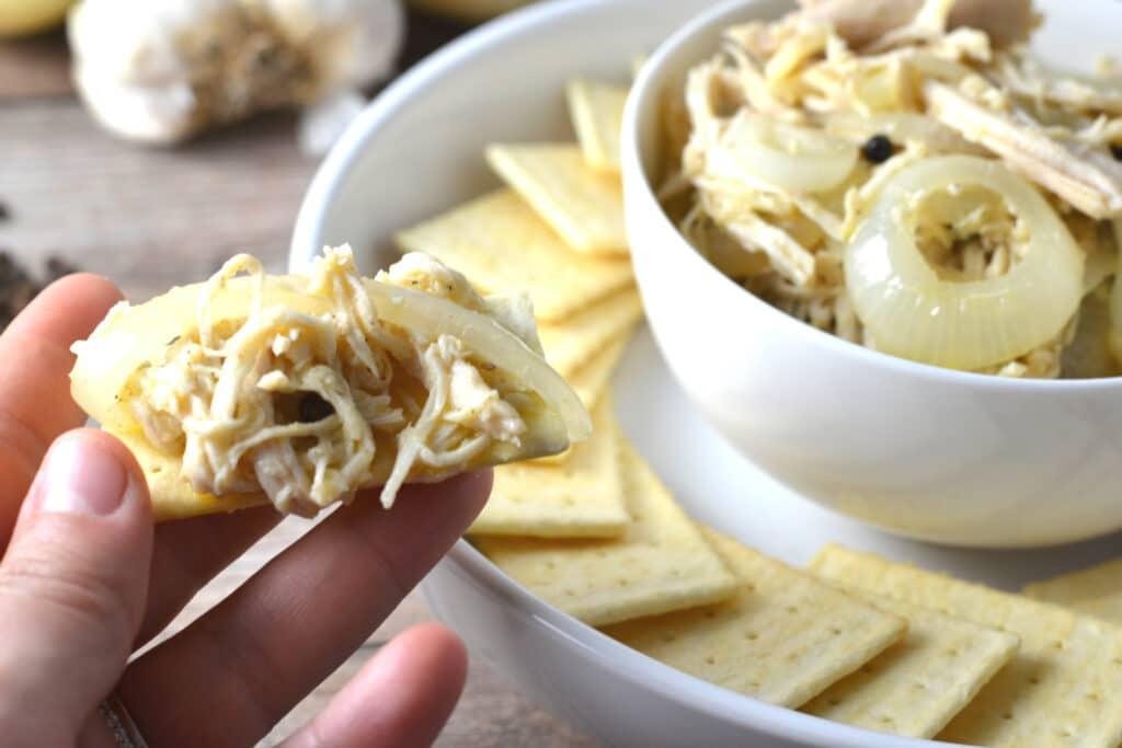 Pollo En Escabeche (Puerto Rican Pickled Chicken) | Delish D'Lites