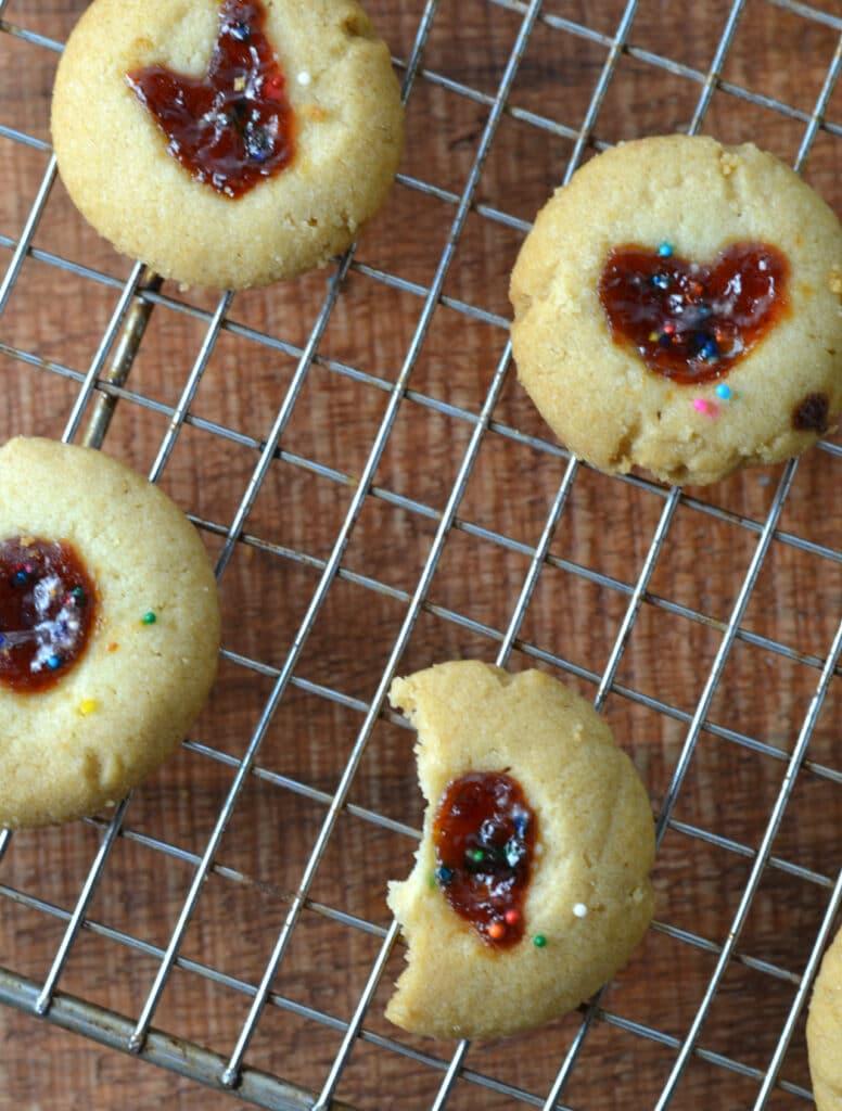 Mantecaditos (Puerto Rican Guava Thumbprint Cookies)