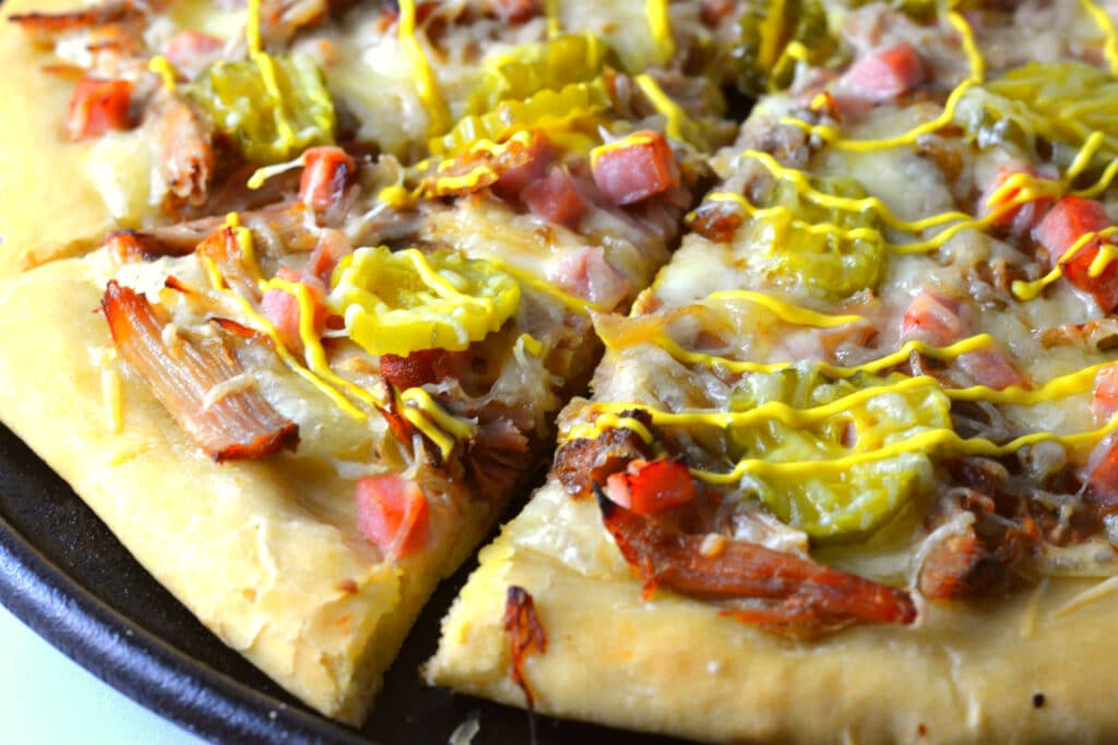 Cuban Sandwich Pizza | Delish D'Lites