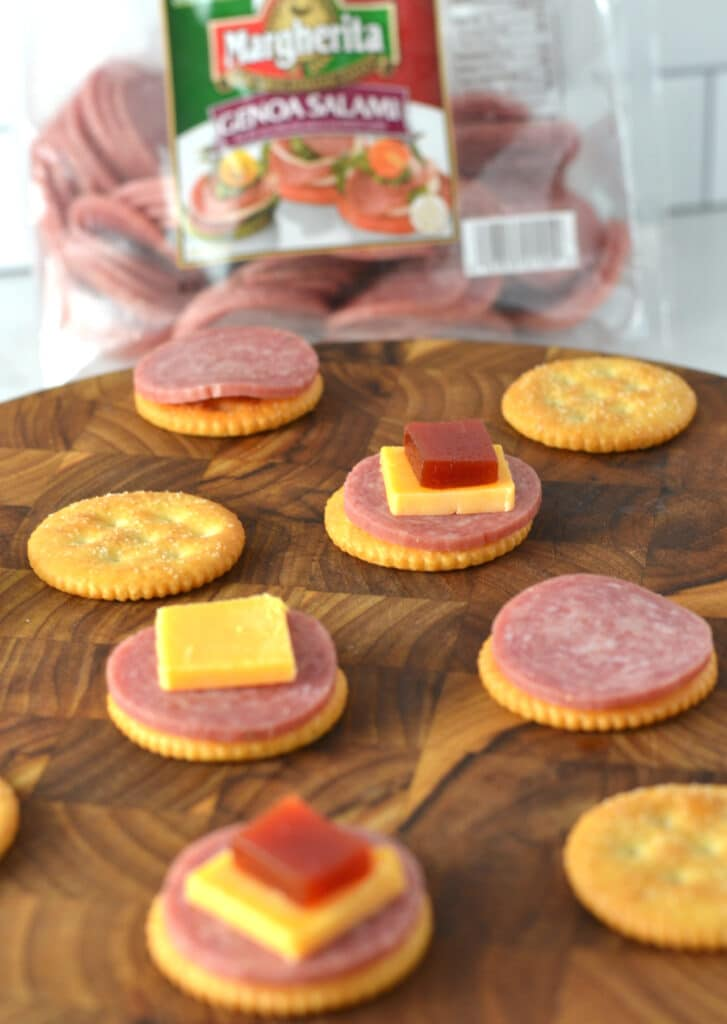 Puerto Rican Salami, Guava and Cheese Appetizers (Entremeses Tipicos)
