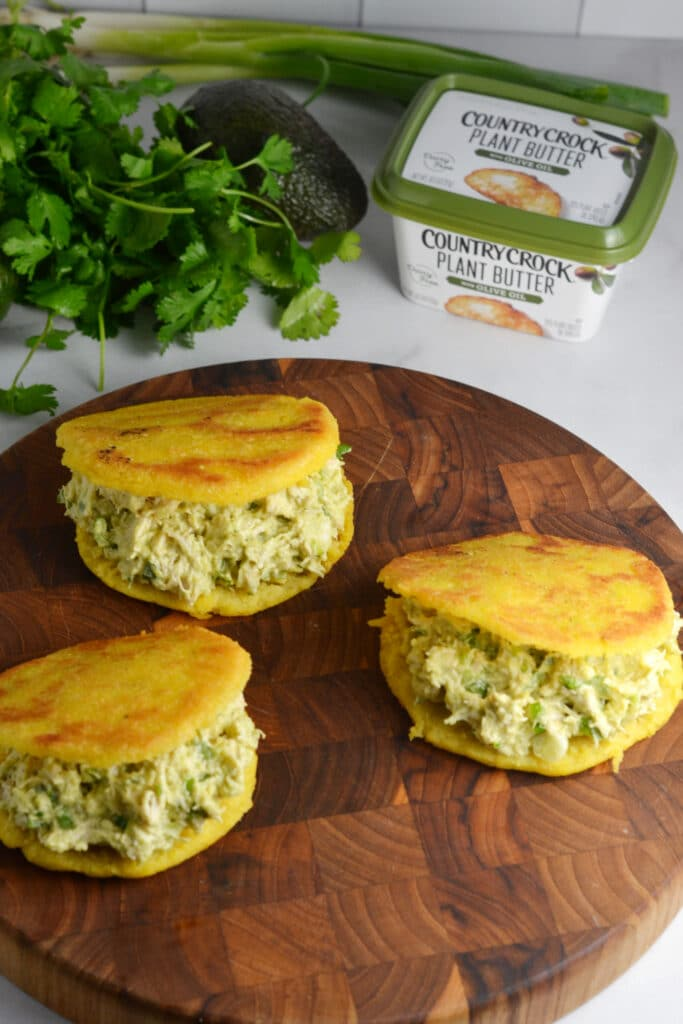 Reina Pepiada Arepas (Venezuelan Arepas with Chicken & Avocado)