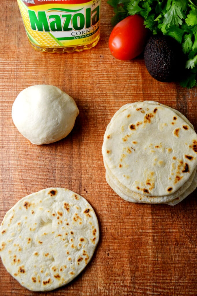 Homemade Vegan Tortillas