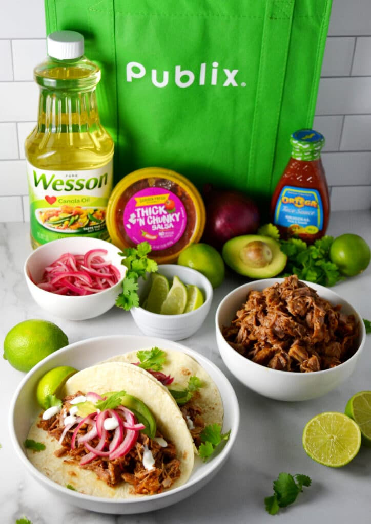 Pork Tinga (Spicy Mexican Shredded Pork) Tacos