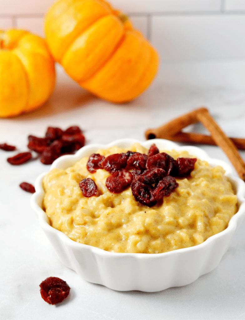 Vegan Pumpkin Rice Pudding | Delish D'Lites