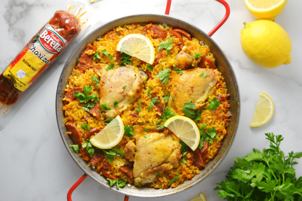Spanish Style Chicken and Chorizo Paella