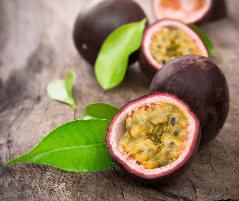 passion fruit cup open, with seeds